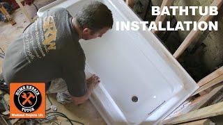 How to Install a Bathtub...Acrylic Kohler Archer (Step-by-Step)