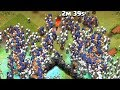 Clash of clans - 300 witches and 300 dragons raid.
