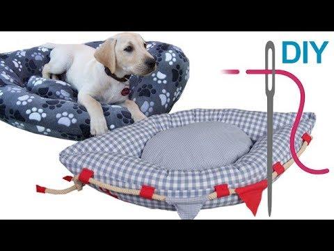 Hundekissen nähen für Anfänger – DIY Hundekörbchen