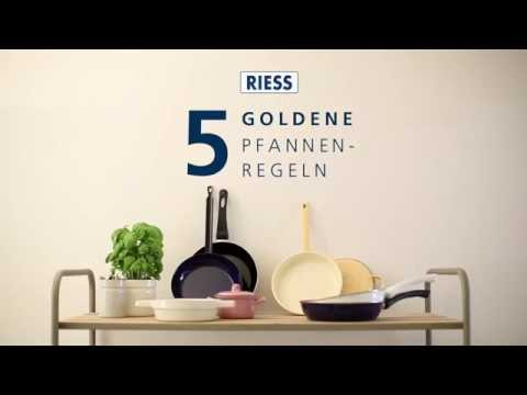 RIESS - 5 Golden Emailpfannen