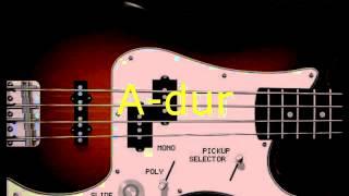 Basová kytara bez not-Country cvičení- Mexiko