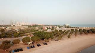 Drone flying over Kuwait