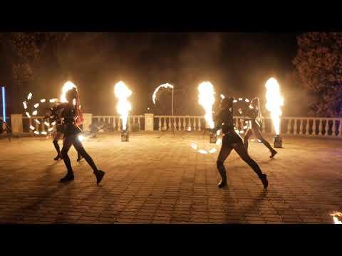 Вогняне шоу на весілля Z-show, відео 1