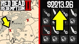ROCKSTARGAMES DOESNT WANT YOU TO KNOW ABOUT THIS MONEY MAKING SPOT in Red Dead Online!