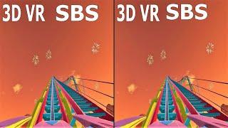 VR 3D Roller Coaster 5 Американские Горки для VR очков 3D SBS