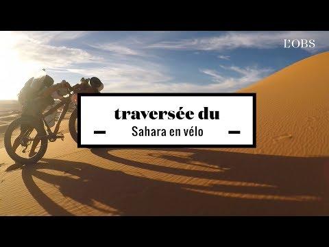 2 minutes d'une traversée du désert du Sahara en vélo