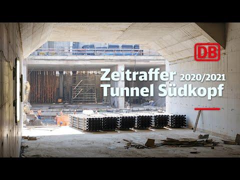 Bahnsteighalle Südkopf – Zeitrafferfilm 2020/2021