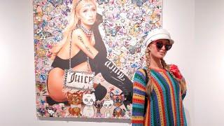 Paris Hilton's Art Auction & Dinner