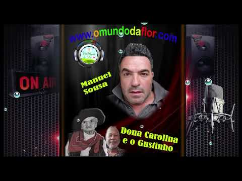 Dona Carolina na radio o mundo da flor