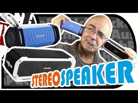 Stereo Bluetooth SPEAKER von Archeer (A210 + A226) vorgestellt im Doppelpack (Unboxing/Test)