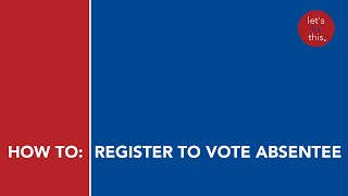How to register to vote absentee in Oklahoma