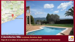 preview picture of video '3 dormitorios Villa se Vende en Fontpineda, Barcelona, Spain'
