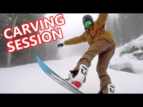 Carving Snowboard Session with T Rice Pro & Mountain Twin