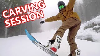 #38 Snowboard intermediate – Carving snowboard session