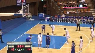 関東大学女子バスケ2014トーナメント、白鴎大学vs山梨学院大学