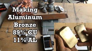 Gambar cover Making Aluminum Bronze (Part 1): Melting Copper and Aluminum - Looks like GOLD!