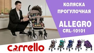 Коляска прогулочная CARRELLO Allegro CRL-10101/1 Kitty Purple от компании lenigo - видео