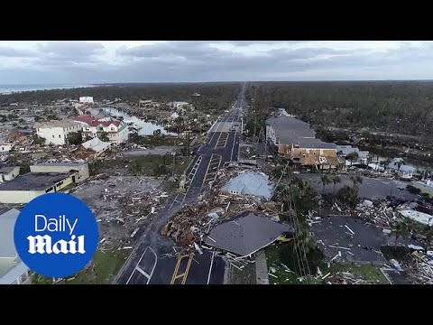 Drone reveals staggering devastation from Hurricane Michael