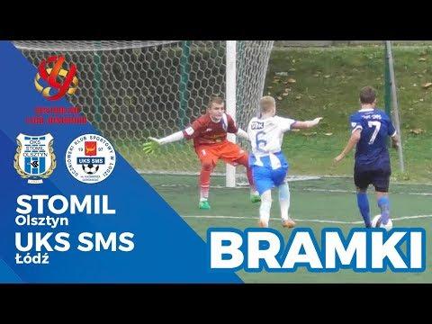 Bramki z meczu CLJ U-15 Stomil Olsztyn - UKS SMS Łódź 1:2