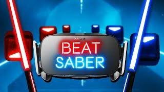 Slicing the Beat! - Beat Saber VR Gameplay - Oculus Rift VR