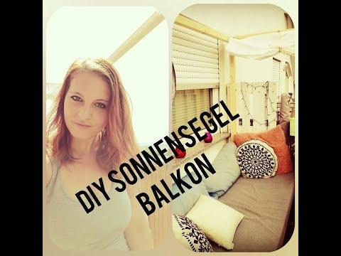 DIY Sonnensegel Balkon Paletten Lounge günstig