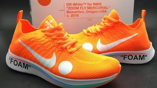 81bc7ee0f531 Nike X Off-White Zoom Fly Mercurial Flyknit Unboxing (Total Orange)