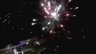 preview picture of video 'vidéo du feu d'artifice de Pepinster vue du ciel'