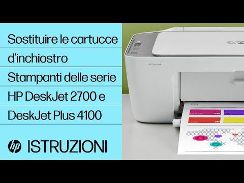 Sostituzione delle cartucce d'inchiostro nelle stampanti HP DeskJet 2700 e DeskJet Plus 4100