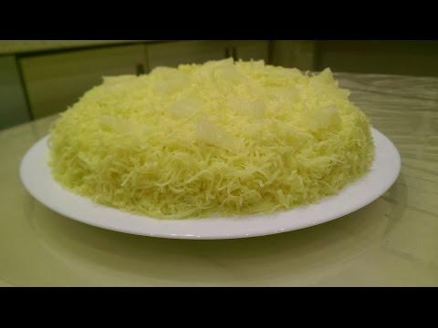 ВКУСНЫЙ САЛАТ С КУРИЦЕЙ. Салат с курицей, грибами и ананасами. Слоеный салат с курицей.