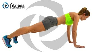 Fat Burning HIIT Workout - Bodyweight HIIT Cardio Workout (With Low Impact Modifications)