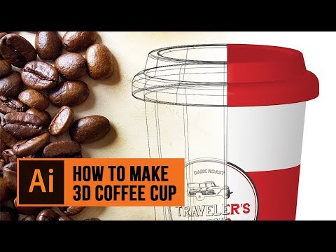 How to Make a 3D Coffee Cup in Adobe Illustrator using Mapping