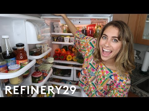 What's In My Fridge Tour | Lucie Fink Vlogs | Refinery29
