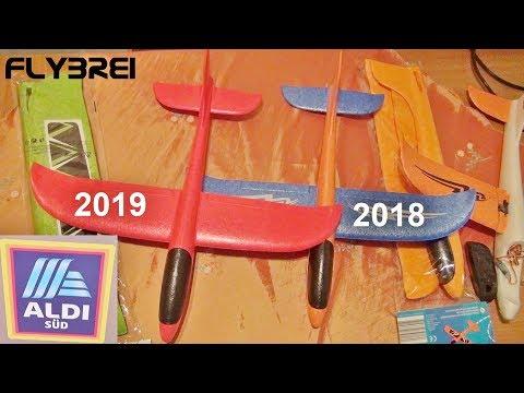 Aldi Wurfgleiter 2019 vs. Jamara Segelflieger 2018