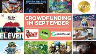 TOP 13 Crowdfunding Spiele im September - Kickstarter, Spieleschmiede & Gamefound