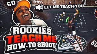 ROOKIE TRIES TEACHING ME TO RELEASE JUMPERS ON NBA 2K18! SECRET AUTOMATIC PERFECT RELEASE?!?!
