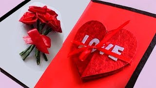 Simple & Easy Handmade Valentines Day Craft    DIY    Special Valentines Day Greeting Cards