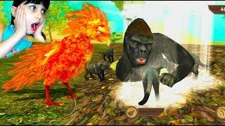 СИМУЛЯТОР ДИКОЙ ПТИЦЫ как СИМУЛЯТОР дикой КОШКИ симулятор феникса kids видео для детей Валеришка