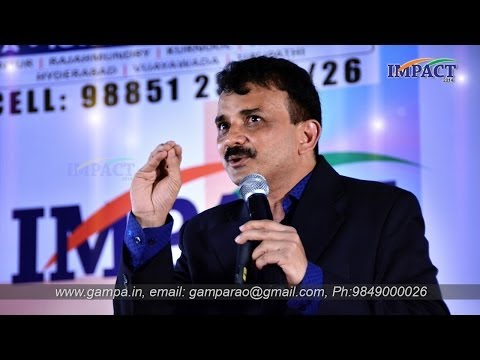 How to become a Good Speaker|Uday Kumar| TELUGU IMPACT Hyd 2014-Part1