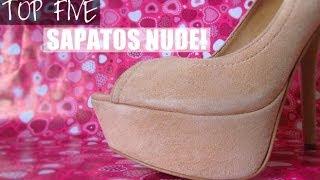 TOP FIVE SAPATOS NUDE