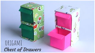 DIY Origami Chest Of Drawers | How To Make Origami Paper Box [ With 2 Or More Storage Units]