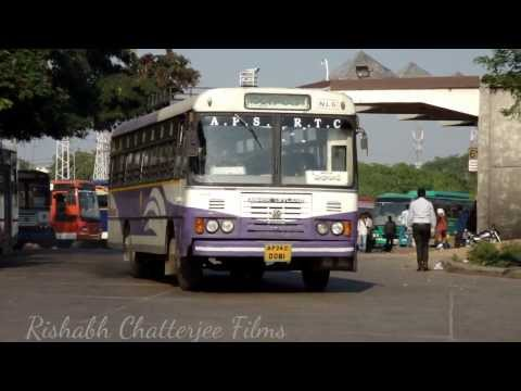 APSRTC DELUXE,ORDINARY CNG AND SUPER LUXURY BUSES AT MGBS,HYDERABAD