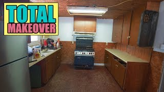 Old Kitchen MAKEOVER! Concrete Counter Tops And Fresh Paint! DIY - HOW TO