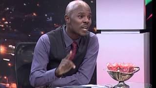 Thomas Mlambo, host of sport @ 10 interviews singer Vusi Nova