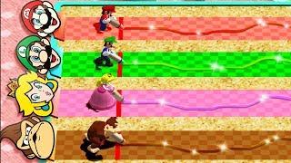 Mario Party 4 MiniGames - Mario Vs Luigi Vs Donkey Kong Vs Peach (Master Cpu)