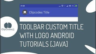 Toolbar Custom Title and Icons Android