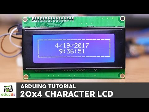 Arduino Tutorial: 20x4 I2C Character LCD display with Arduino Uno from Banggood.com