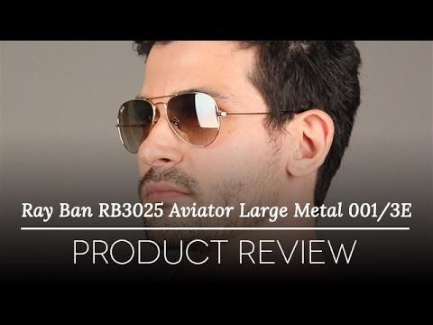 Ray Ban Aviator Large Metal RB3025 001 3E (gold rose gold gradient mirror f5c2ed623083b
