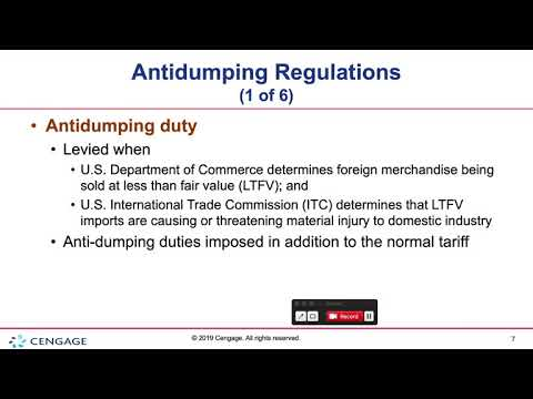 , title : 'Dumping and Trade Regulations