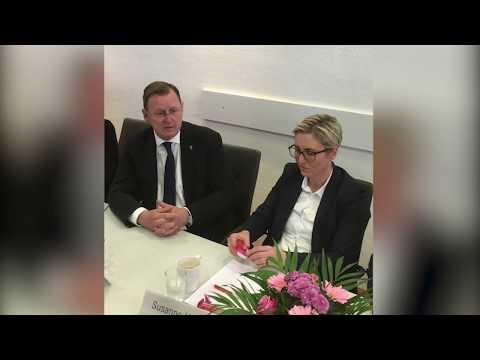Bodo Ramelow nach der Thüringenwahl im Parteivorstand