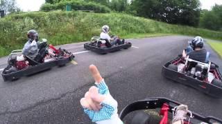 preview picture of video 'Kartfahren auf der Kartbahn inTeningen mit Gopro HERO3+'